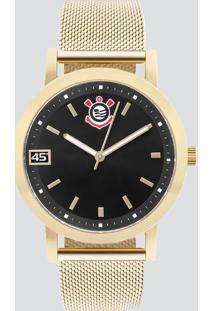Relógio Technos Corinthians Feminino Dourado