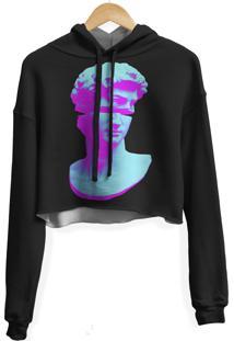 Blusa Cropped Moletom Feminina Overfame Estátua Md01 - Kanui