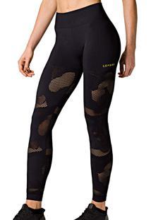 Calça Legging Arrastão Lupo Sport (71717-001) Sem Costura, Fitness Fem, Calça/Legging, Microfibra, Gg/Eg
