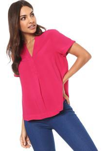 Camisa Hering Evasê Básica Rosa