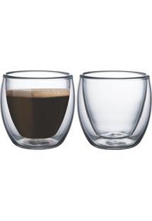 Conjunto De Xícaras Para Café 2 Peças Tramontina - 64760400