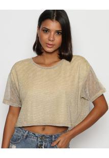 Camiseta Texturizado - Dourada - Tritontriton
