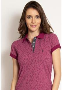 Camisa Polo Aleatory Piquet Close Feminina - Feminino