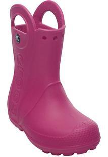 Galocha Handle It Rain Boot- Rosa Escurocrocs