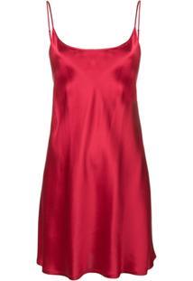6cfbc2101 Farfetch. Camisola Alças Ombro Vermelha Lã Seda La Perla ...