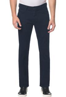 Calça Jeans Five Pockets Straight - Azul Marinho - 38