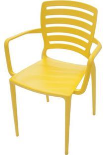 Cadeira Sofia Com Braço Amarela Tramontina 92036/000