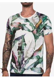 Camiseta Psyco Tropical Branca 102454