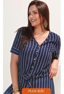 Camisa Tecido Rayon Bali Azul