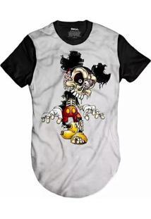 Camiseta Skull Clothing Longline Mickey Dead Masculina - Masculino