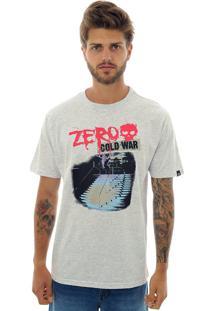 Camiseta Zero Cold War Mescla Claro