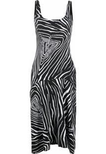 Versace Vestido Com Logo Virtus - Preto