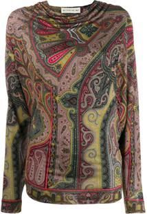 Etro Suéter Com Estampa Paisley - Verde