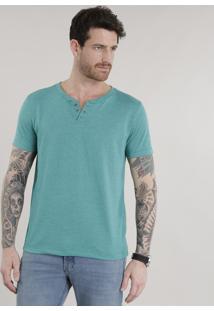 Camiseta Básica Verde-Água