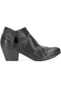 Officine Creative Ankle Boot Giselle De Couro - Preto