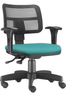 Cadeira Giratória Executiva Lyam Decor Zip Corino Turquesa