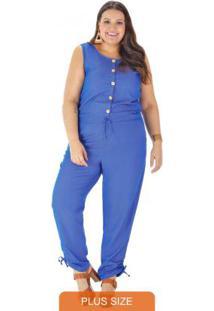 Macacão Tecido Denim Azul Jeans
