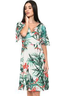 a545907bd0 ... Vestido Mercatto Curto Floral Cinza
