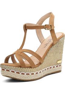 Sandália Sb Shoes Anabela Ref.3230 Whisky