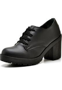Bota Ankle Boot Top Franca Shoes Preto Fosco