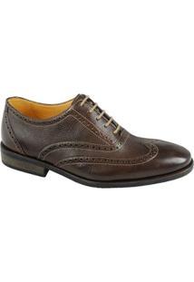 Sapato Casual Oxford Couro Sandro & Co. Masculino - Masculino-Café
