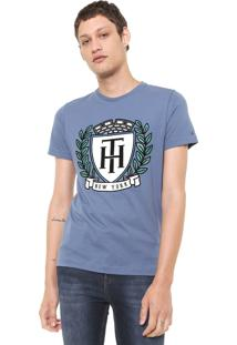 Camiseta Tommy Hilfiger Crest Azul