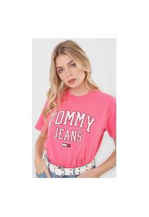 Camiseta Tommy Jeans Logo Pink