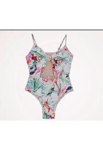 Maiô Zephyr Beachwear Laço No Busto - Feminino
