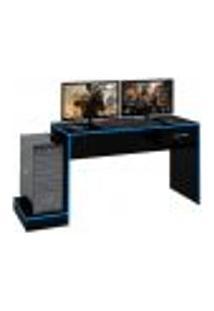 Mesa Gamer Player One Preta E Azul