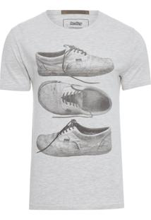 T-Shirt Masculina Especial Silk Tênis - Off White