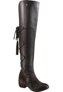 Bota Cravo E Canela Over Knee Feminina - Feminino-Cafe