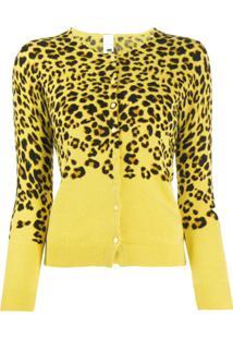 Ultràchic Cardigan Animal Print - Amarelo