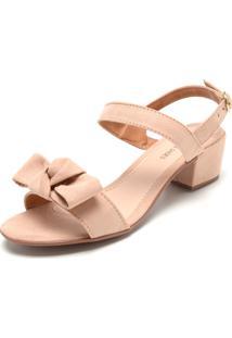 Sandália Dafiti Shoes Laço Rosa