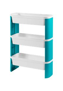 Organizador Slim 3 Andares Loft 44,83 X 17,34 X 67,85 Cm Verde Coza