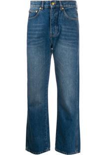Victoria Victoria Beckham Calça Jeans Cintura Alta Com Lavagem Estonada - Azul