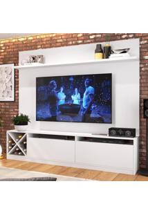 Rack Com Painel Para Tv Até 65 Polegadas 2 Portas Branco 2022 - Quiditá Móveis