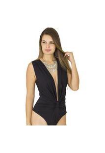 Body Dress Code Moda Decote Preto