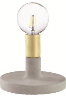Luminária De Mesa Ragusa 6626 Base Em Cimento Dourado Mart