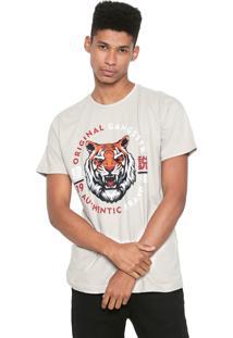 Camiseta Gangster Tigre Bege