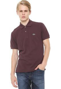 Camisa Polo Lacoste Classic Fit Marrom