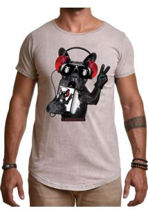 Camiseta Use Thuco Phone Cat Marrom Claro