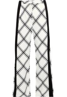 Calça Feminina Xadrez Trento - Branco