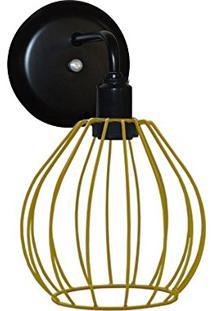 Arandela Com Aramado Modelo Balão - Amarelo