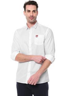 Camisa Mr Kitsch Reta Estampada Branca/Vermelha