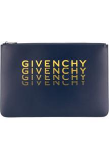 Givenchy Clutch De Couro - Azul
