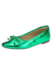Sapatilha Amorelle Bico Bailarina Verde