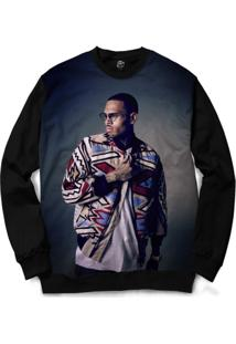 Blusa Bsc Chris Brown Full Print - Masculino