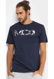 Camiseta Mcd Regular Masculina - Masculino-Marinho