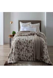 Edredom Queen Jacquard Islândia Arabesque Taupe Claro - 100% Poliéster - Home Design - Corttex