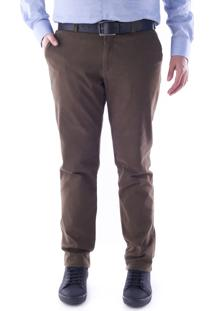 Calça 3027 Sarja Tabaco Traymon Modelagem Slim